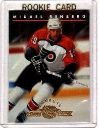 1993 Donruss Rated Rookies Mikael Renberg Rookie Card #5 - Philadelphia Flyers